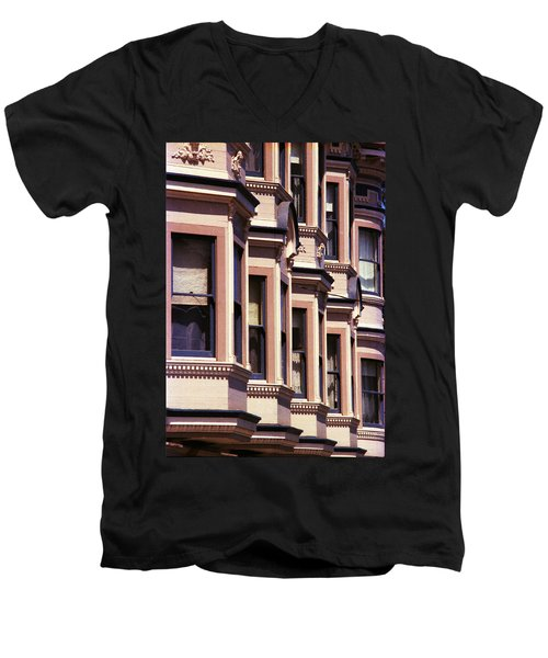 Men's V-Neck T-Shirt featuring the photograph San Francisco Sunshine  by Ira Shander