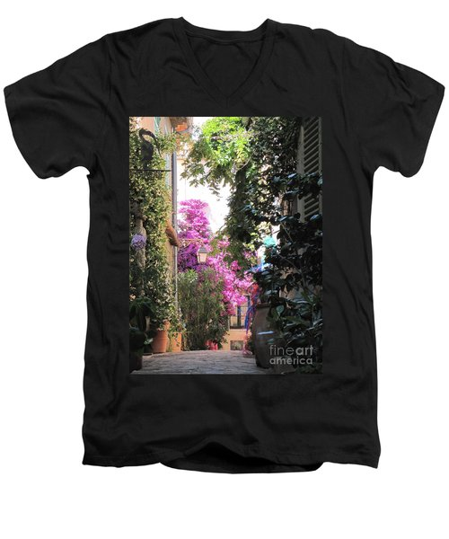 St Tropez Men's V-Neck T-Shirt by HEVi FineArt