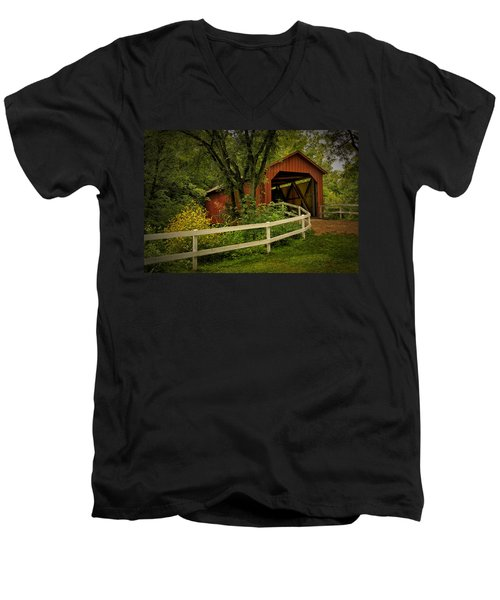 Sandy Creek Bridge Near Hillsboro Mo Dsc06888 Men's V-Neck T-Shirt