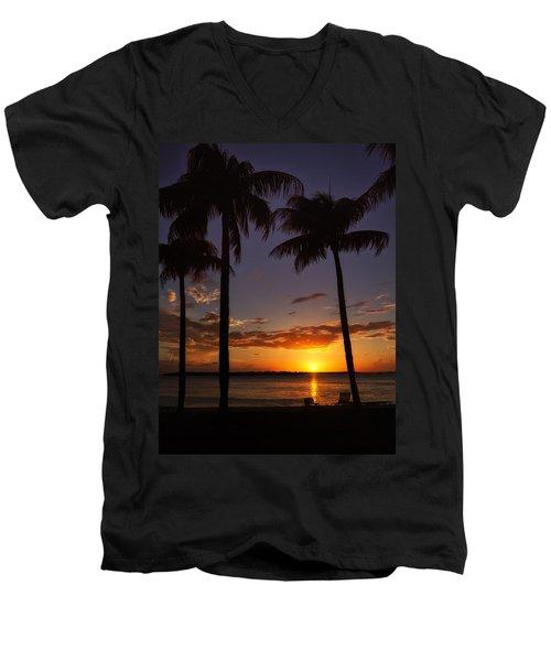 Sanibel Island Sunset Men's V-Neck T-Shirt