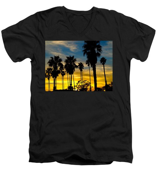 Santa Barbara Sunset Men's V-Neck T-Shirt