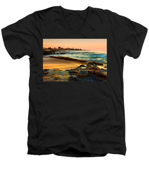 Santa Cruz Sunset Men's V-Neck T-Shirt