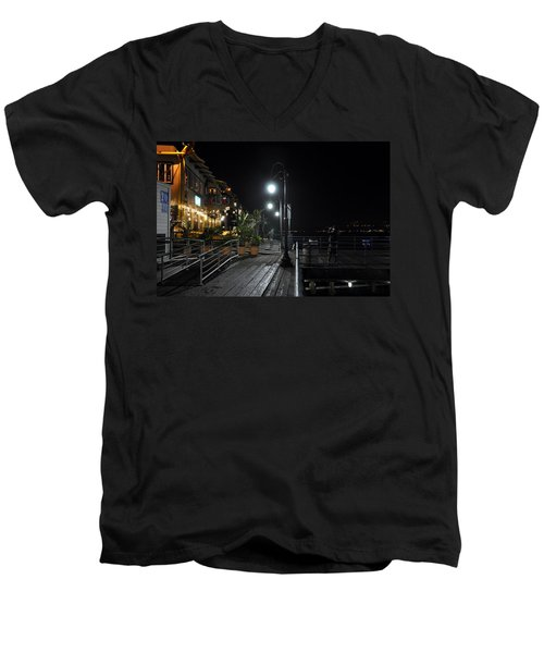 Santa Monica Pier Men's V-Neck T-Shirt