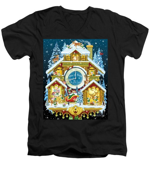 Santas Workshop Cuckoo Clock Men's V-Neck T-Shirt