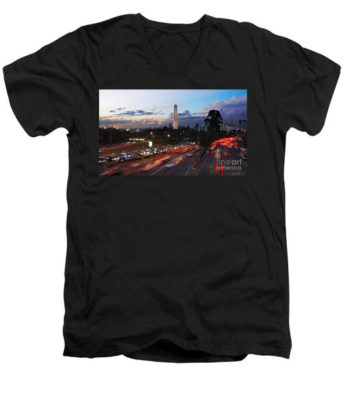 Sao Paulo Skyline - Ibirapuera Men's V-Neck T-Shirt