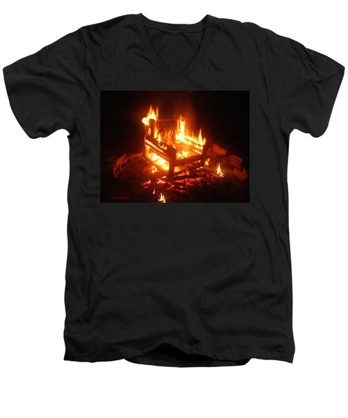 Men's V-Neck T-Shirt featuring the photograph Satan's Arm Chair by Shana Rowe Jackson