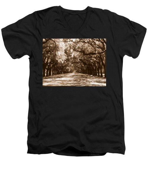 Savannah Sepia - The Old South Men's V-Neck T-Shirt