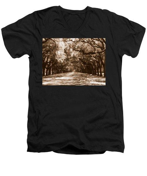 Savannah Sepia - The Old South Men's V-Neck T-Shirt