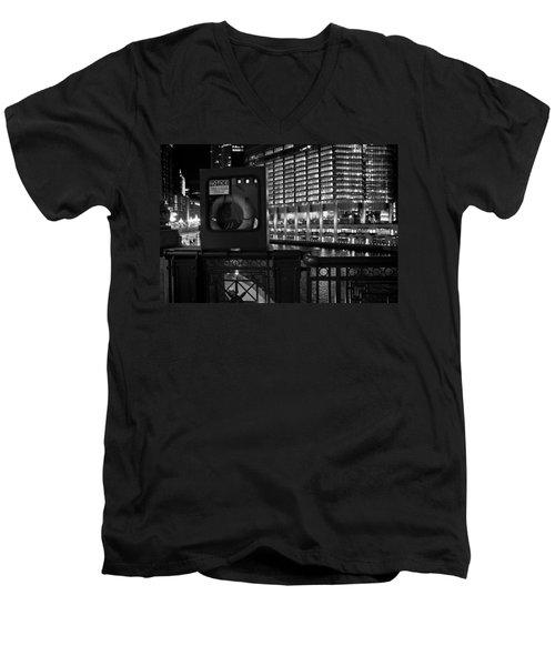 Save A Life On The River Men's V-Neck T-Shirt by Melinda Ledsome