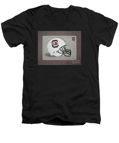 S.c. Gamecocks T-shirt Men's V-Neck T-Shirt by Herb Strobino