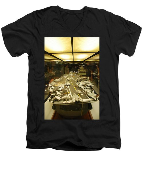 Scale Model Aircraft Carrier Men's V-Neck T-Shirt