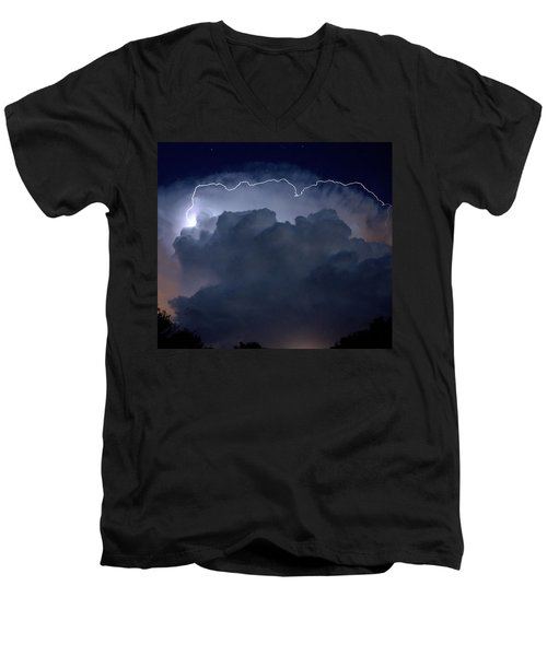 Men's V-Neck T-Shirt featuring the photograph Scalloped Edge by Charlotte Schafer