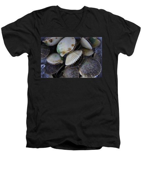 Scallops Men's V-Neck T-Shirt by Laurie Perry