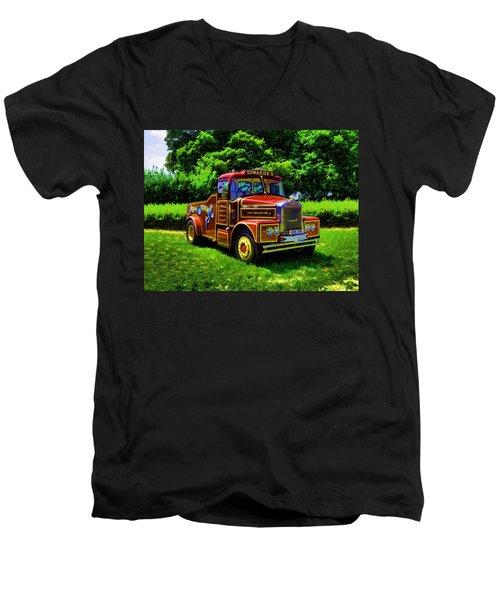 Scammell Highwayman - Color Men's V-Neck T-Shirt