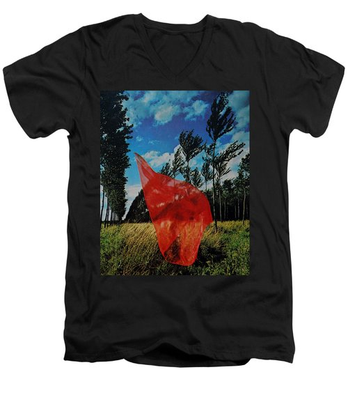 Scarf In The Winds Men's V-Neck T-Shirt
