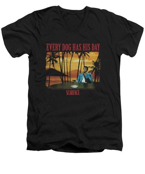 Scarface - A Dog Day Men's V-Neck T-Shirt