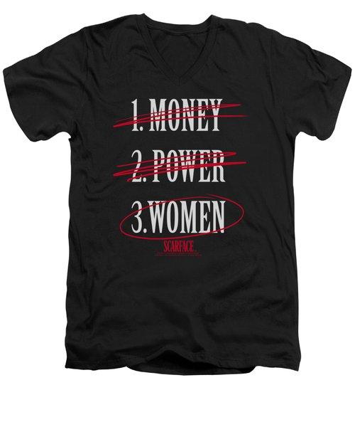 Scarface - Money Power Women Men's V-Neck T-Shirt
