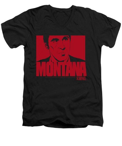 Scarface - Montana Face Men's V-Neck T-Shirt
