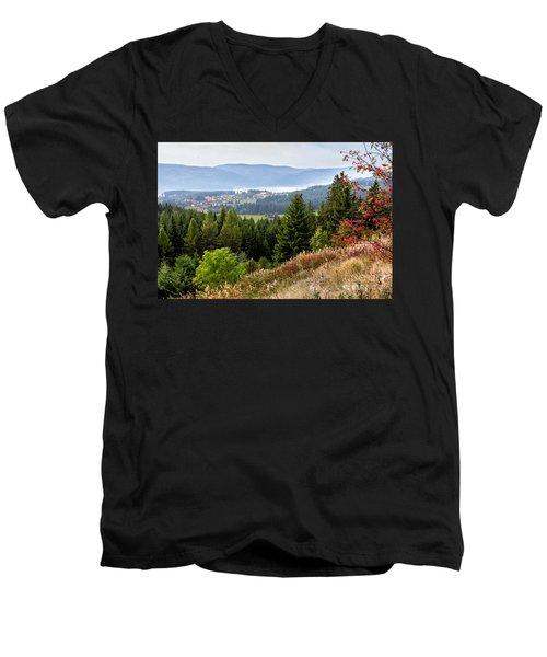 Schluchsee In The Black Forest Men's V-Neck T-Shirt