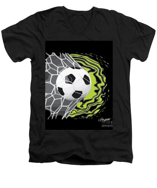 Score Men's V-Neck T-Shirt by Dani Abbott
