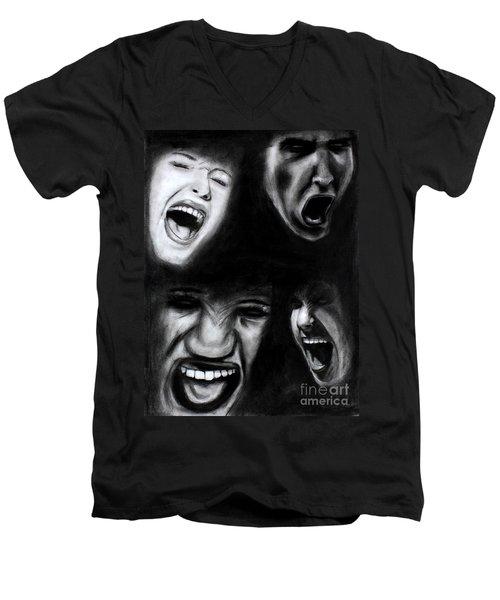 Scream Men's V-Neck T-Shirt