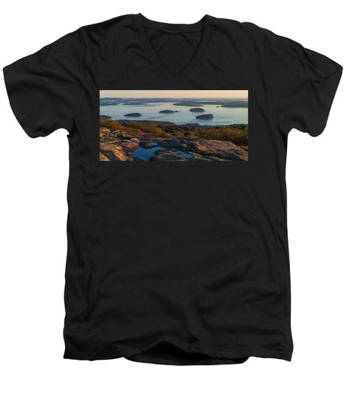 Men's V-Neck T-Shirt featuring the photograph Sea Dots by Kristopher Schoenleber