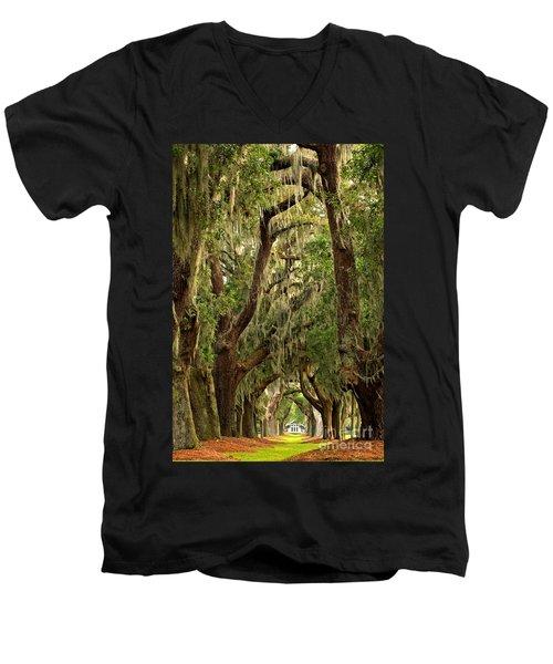Sea Island Oaks Portrait Men's V-Neck T-Shirt