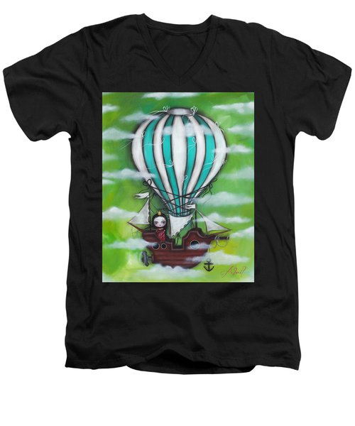 Sea Of Clouds Men's V-Neck T-Shirt by Abril Andrade Griffith