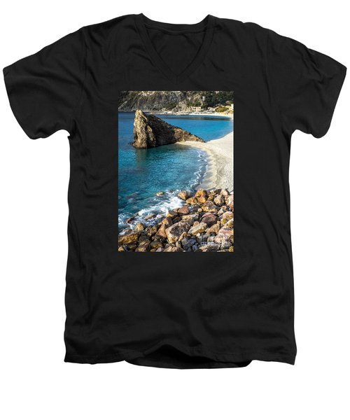 Sea Stack Of Monterosso Men's V-Neck T-Shirt