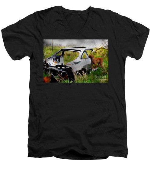 Men's V-Neck T-Shirt featuring the photograph Search And Rescue by Liane Wright