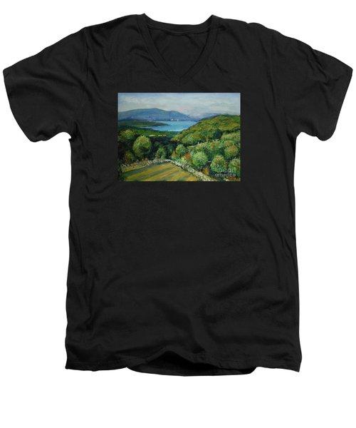 Seascape From Kavran Men's V-Neck T-Shirt