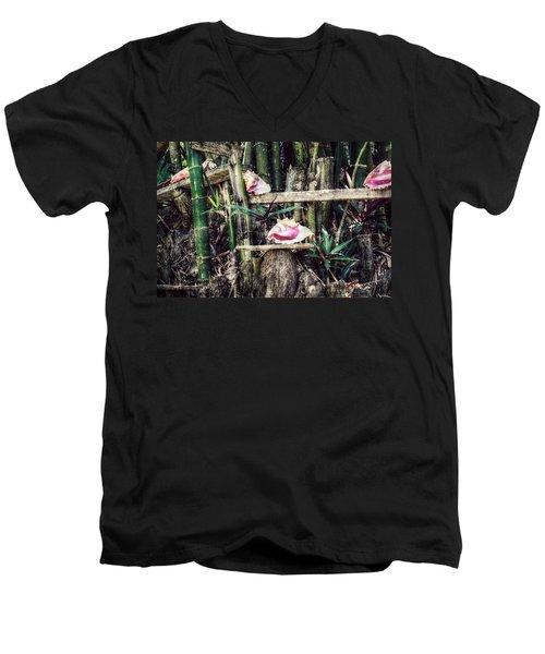 Seaside Display Men's V-Neck T-Shirt by Melanie Lankford Photography