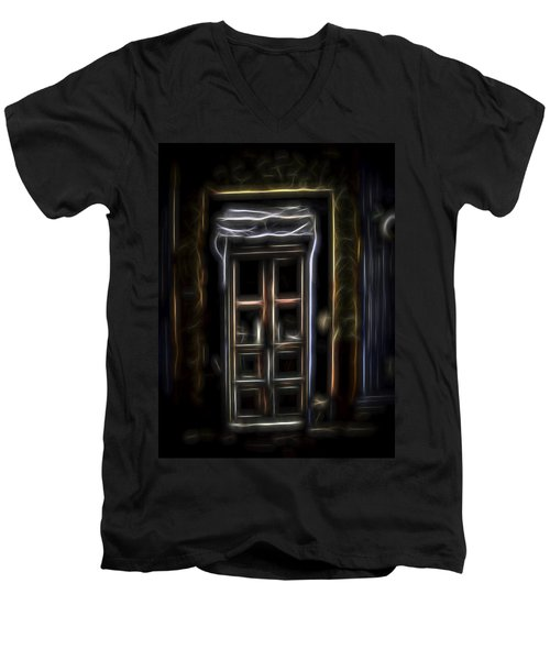 Secret Doorway Men's V-Neck T-Shirt by William Horden