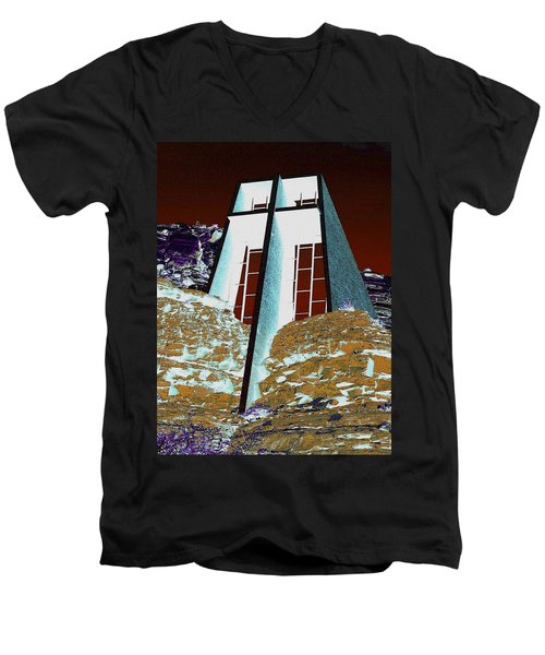 Sedona Rock Church Men's V-Neck T-Shirt