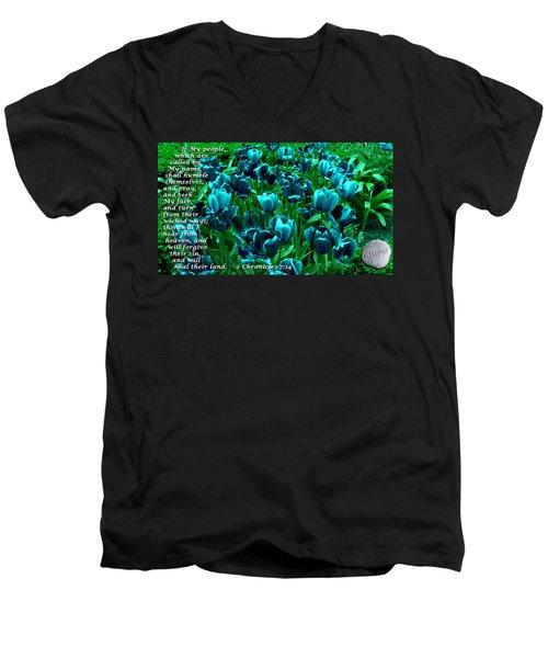 Seek My Face Men's V-Neck T-Shirt