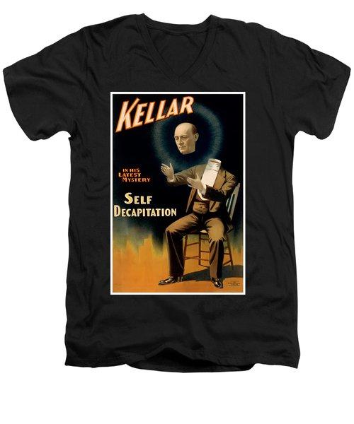 Self Decapitation Men's V-Neck T-Shirt by Terry Reynoldson