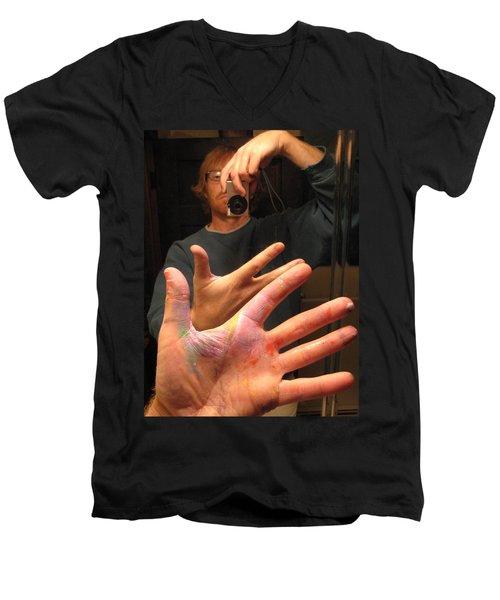 Self Photo Portrait Men's V-Neck T-Shirt