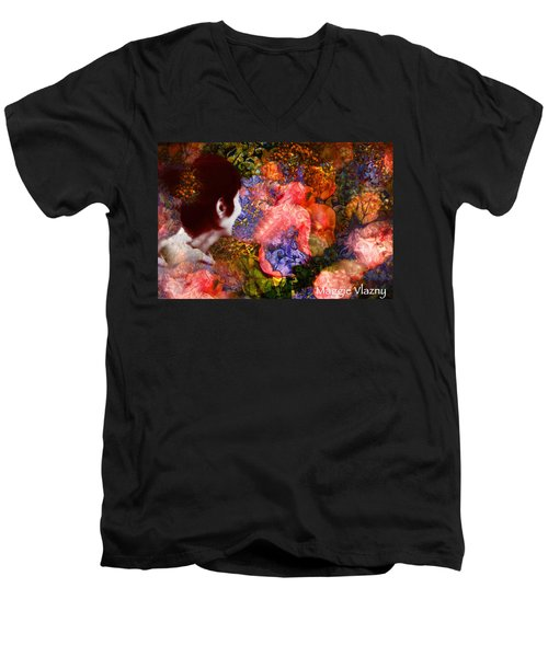 Girl Looking Toward Future Men's V-Neck T-Shirt