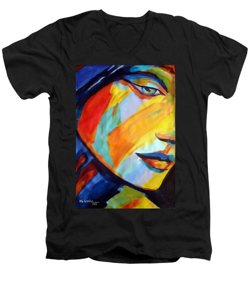 Men's V-Neck T-Shirt featuring the painting Sentiment by Helena Wierzbicki