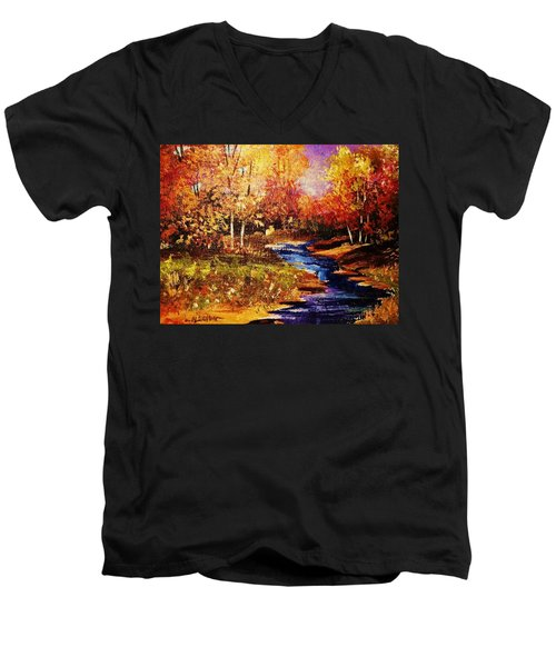 The Brilliance Of Autumn Men's V-Neck T-Shirt