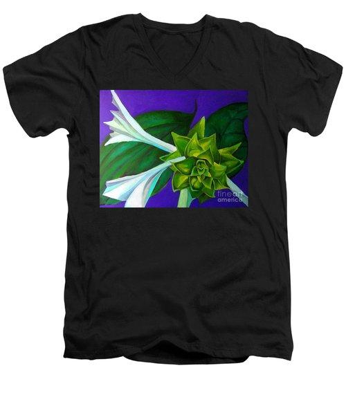 Serene Green One Men's V-Neck T-Shirt