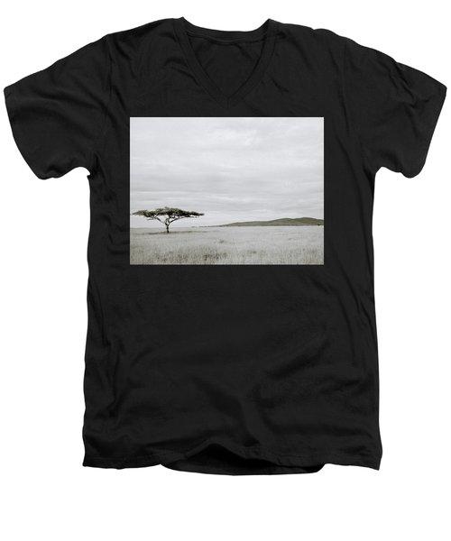 Serengeti Acacia Tree  Men's V-Neck T-Shirt by Shaun Higson
