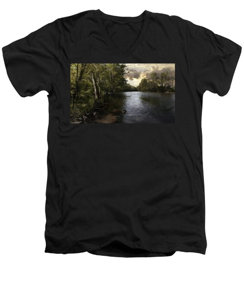Men's V-Neck T-Shirt featuring the photograph Serenity by Lynn Geoffroy