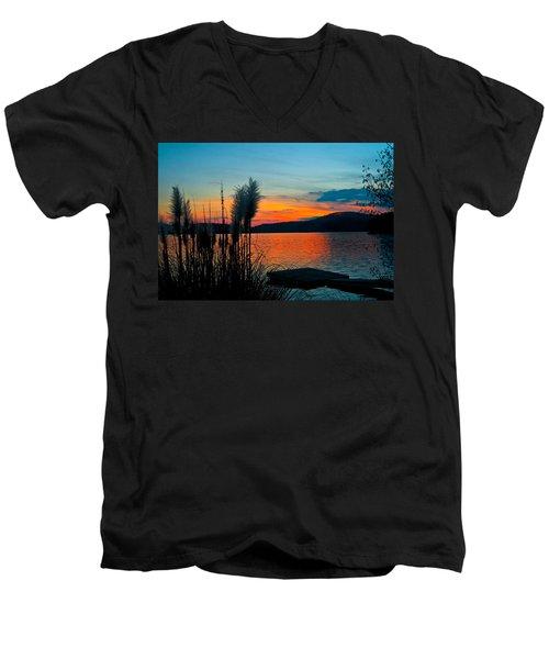 Serenity Orange Men's V-Neck T-Shirt