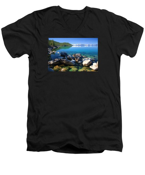 Men's V-Neck T-Shirt featuring the photograph Serenity by Sean Sarsfield