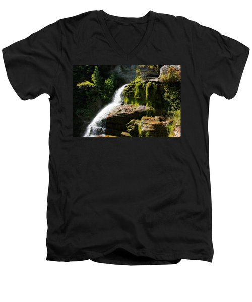 Men's V-Neck T-Shirt featuring the photograph Serenity by Trina  Ansel