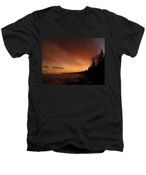 Set Fire To The Rain Men's V-Neck T-Shirt