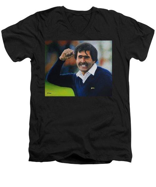 Seve Ballesteros Oil On Canvas Men's V-Neck T-Shirt