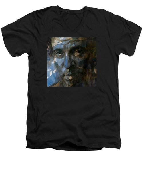 Shackled And Drawn Men's V-Neck T-Shirt by Paul Lovering