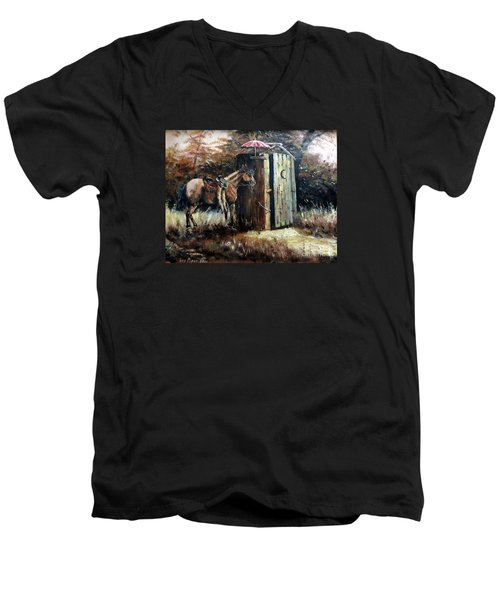 Shade For My Horse Men's V-Neck T-Shirt by Lee Piper